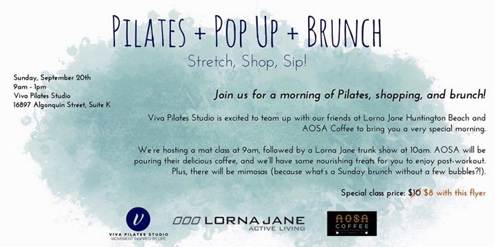Pilates + Pop Up + Brunch